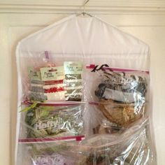 """I use an over-the-door show organizer to store my ribbon!"" ~Denise Hahn #graphic45 #craftorganization2014 #ribbon"