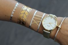Armbands Collection | Luxury Metallic Jewelry Tattoos