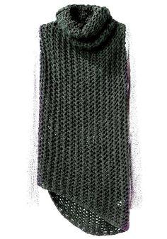 Chunky Vest Knit Sweater Vest Loose Turtle Neck by GrahamsBazaar