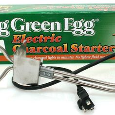 Big green egg electric charcoal lighter - visit our website @ Safford Trading Company to view all big green egg products and accessories - shop today Big Green Egg Accessories, Grill Accessories, Green Egg Grill, Grilling Tips, Green Eggs, Knives And Tools, Starters, Lighter, Charcoal