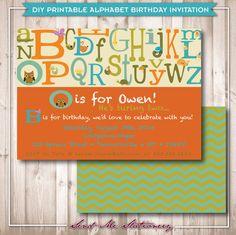 ABC Birthday Invite