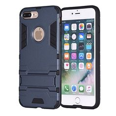 $7.19 (40% Off) on LootHoot.com - iPhone 7 Plus Case, REENUO Iron Man Kickstand Shock Absorbing Hybrid Dual Layer Armor Defender Ultra Slim Cover Shell Hard Plastic