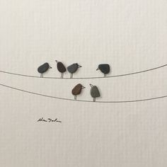 5 by 5 Mini unframed pebble art picture by sharon by PebbleArt
