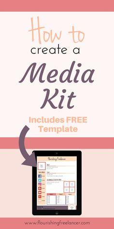 How to create a Media Kit. | Wie man ein Medien Kit erstellt. #blogging #mediakit #marketing