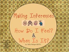Make Some Inferences! 2 Flashcard Games for How Do I Feel? & When Is It? {Each flashcard has a clue to help the student infer which the answer; perfect for students with autism or cognitive disabilities who need to work on answering wh- questions, making inferences, and naming people/items}