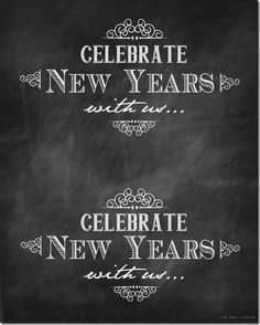 Free New Year's Eve Party Printables by the36thavenue.com So fun!