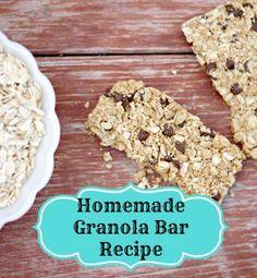 An Easy Homemade Peanut Butter Granola Bar Recipe.
