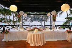 Bride and Groom main table setup