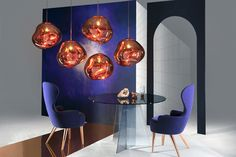 Melt Pendant & Wingback Dining Chair. Photography by Peer Lindgreen.
