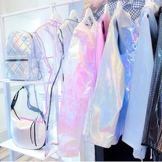 Image shared by Lelie. Find images and videos about clothes, runway and holographic on We Heart It - the app to get lost in what you love. Pastel Fashion, Kawaii Fashion, Outfits For Teens, Cool Outfits, Holographic Fashion, Mode Lolita, Mode Kawaii, Unicorn Outfit, New Look Fashion