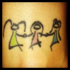 Hannah...our sister tattoo...we just need one more stick person added
