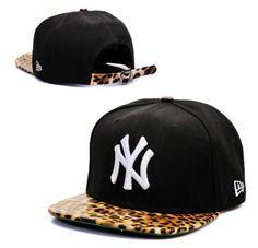 New York Yankees New Era Snapback Hats With Leopard Print Brim New Era  Snapback 8636a481709