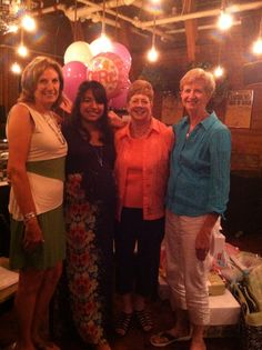 At Angelica's baby shower ! With sisters and Angelica .