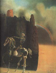 """The Horseman of Death"", 1935, Salvador Dalí. #deathinart"