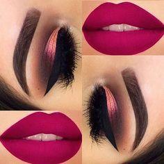 Eye Makeup Steps, Makeup Eye Looks, Beautiful Eye Makeup, Smokey Eye Makeup, Skin Makeup, Eyeshadow Makeup, Creative Eye Makeup, Simple Makeup, Easy Makeup