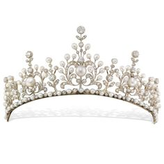 Bentley & Skinner late Victorian diamond and natural pearl tiara dating from 1910 (£145,000).