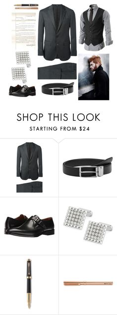 """Male Pepper Potts"" by rylock ❤ liked on Polyvore featuring Polo Ralph Lauren, MANGO MAN, Kenneth Cole, Roberto Coin and Parker"