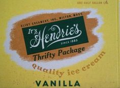Vintage Its Hendrie's Old Ice Cream Cartons Graphic Advertising Promotional | eBay