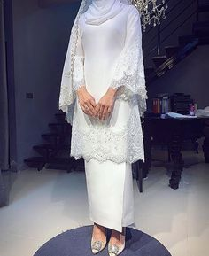 Image may contain: one or more people and people standing- - Source by jenadownspin Source by DorrisClothes ideas hijab Muslimah Wedding Dress, Hijab Style Dress, Muslim Wedding Dresses, Muslim Dress, Dream Wedding Dresses, Bridal Dresses, Bridesmaid Dresses, Dress Muslim Modern, Kebaya Dress