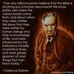 Clarence Darrow --- I rest my case Losing My Religion, Anti Religion, Secular Humanism, Atheist Quotes, Athiest, Religious People, World Religions, Critical Thinking, In This World