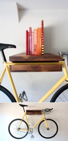 bike rack and shelf = Bi-purpose