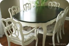White French Provincial Furniture | Thrifty Inspirations transformed a thrift store dining set into this ...
