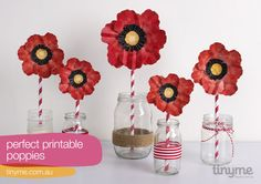 Perfect printable poppies made by colourmethere