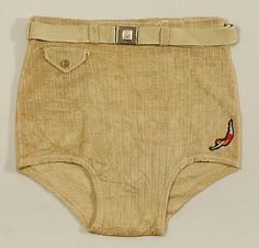 Jantzen (American, founded 1910). Beachwear (Trunks), 1930–49. The Metropolitan Museum of Art, New York. Gift of Harold Koda, 1995 (1995.571.8a, b) #Olympics #London2012