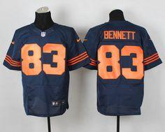 NFL Chicago Bears 83 Martellus Bennett Elite Navy Blue Throwback Alternate NFL Jersey