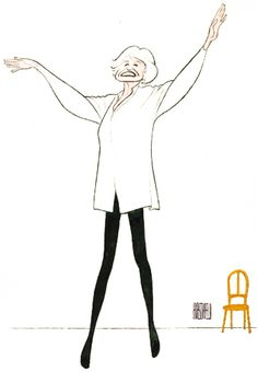 Al Hirschfeld - Elaine Stritch Live at Liberty