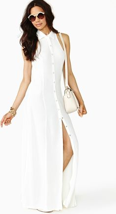 Conquest Maxi Dress Ivory - Lyst