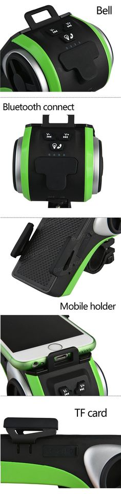 ROCKBROS Multi Function Bicycle Phone Holder Bike Light Bluetooth Audio Powerbank Cycling Ring Bell Integrated USB Charger Bike Accessories Sale - Banggood.com