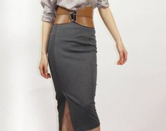 Grey pencil skirt - Style 9