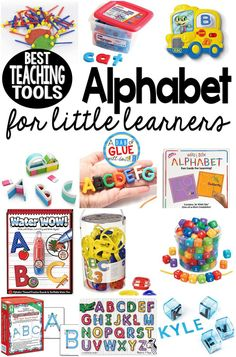I LOVE being able to incorporate these alphabet teaching tools to my students' learning. Here are the best alphabet teaching tools for your little learners. Letter Learning Games, Teaching The Alphabet, Kids Learning Activities, Alphabet Activities, Preschool Alphabet, Preschool Ideas, Toddler Alphabet, Toddler Activities, Spelling Activities