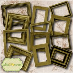 Wooden Collection Vol2 - Digital Wooden Frames - Digital Scrapbooking Elements - INSTANT DOWNLOAD