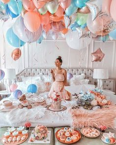Balloon Bouquet - Decoration For Home 30th Birthday Ideas For Women, Birthday Party For Teens, 18th Birthday Party, Girl Birthday, Happy Birthday, Birthday Room Decorations, Birthday Goals, Birthday Photography, Balloon Bouquet