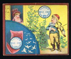 1/ 1883 Folding Calendar Clark's Mile End Spool Cotton Thread