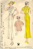 1930's Tucked Dress Pattern