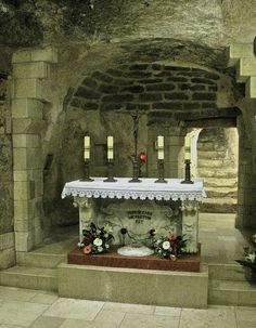 The grotto under the Basilica of the Annunciation, in Nazareth, is considered by most of the Christian world as the very place where angel Gabriel told told Mary that she would become the mother of Jesus