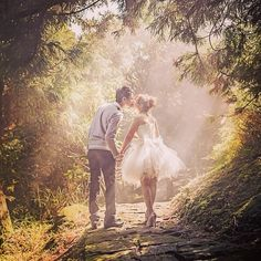 #fairytale #engagement session by #WeSweetPhotography. #shortdress #cute #kiss