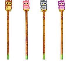 Owl pencil/eraser - The English Owl Company