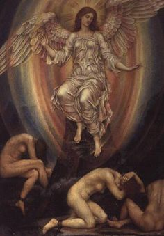 The Light Shineth in Darkness and the Darkness Comprehendeth It Not - Evelyn De Morgan