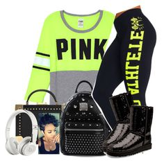"""""""Untitled #514"""" by chynaloggins ❤ liked on Polyvore featuring mode, MCM et UGG Australia"""
