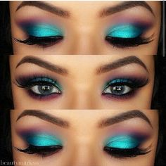 Looks like mermaid makeup ♡