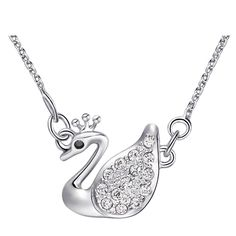 Find More Others Information about Fashion Animal Necklaces For Women Crystal Style CZ Diamond Cute Swan Shape Top Quality Wholesale Feminino Love Uaib N950,High Quality animal necklace,China necklace fashion Suppliers, Cheap fashion necklace from ULOVE No.2 Fashion Jewelry Store  on Aliexpress.com