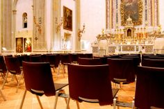 Multi-purpose #seating for public places, workplace, study and entertainment settings as well as the contract sector @ Museum of Sacred Art Sant'Ignazio di Loyola Church, Carpi, Italy.
