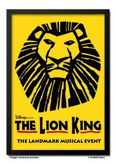 Poster O Rei Leão - Broadway - QUADRO EMOLDURADO