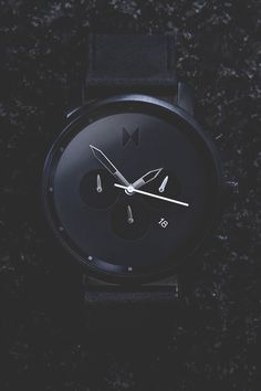 "modernambition: ""Chrono All Black Leather 