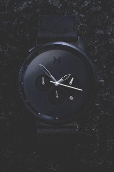 "modernambition: ""Chrono All Black Leather   BUY HEREUse Code: ModernAmbition for $10 off """