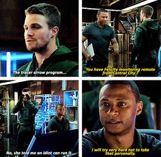 Arrow - Oliver Queen and John Diggle - #3.4 #Season3 - We love you, Diggle.